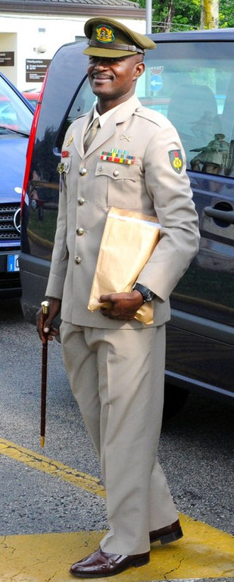 Ghana Armed Forces - GAF FSM (Forces Sergeant Major) of the Ghana Armed Forces CWO (Chief Warrant Officer) Dickson Owusu
