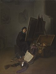 An Artist in his Studio (Self-portrait?)