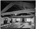 GENERAL VIEW OF DINING ROOM - Ledges Shelter, Truxell Road, Peninsula, Summit County, OH HABS OHIO,77-PEN.V,3-6.tif