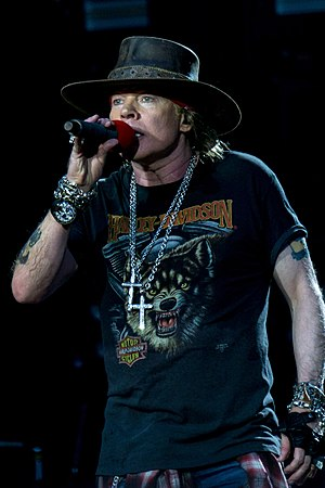Axl Rose - Rose performing at the London Stadium in 2017