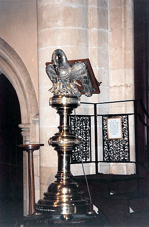 St Michael and St George Cathedral, Grahamstown - The large ornate lectern still in use in St Michael and St George Cathedral