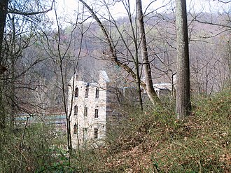 Beverley Mill - The mill ruins in 2013.
