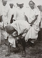 Gandhi at Dandi 5 April 1930