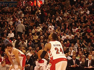 2006–07 Toronto Raptors season - The 2006–07 season saw a reduction in minutes for Raptors veteran Morris Peterson (right), but also an introduction of Spanish veteran Jorge Garbajosa (left) to the starting lineup.