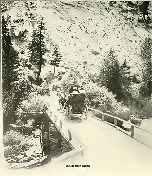 Gardner River - Image: Gardner River Crossing 1901