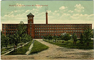 Loray Mill strike - Image: Gastonia NC Loray Cotton Mill 57000 Spindles