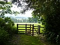 Gate to the public footpath from Holnicote to West Luccombe - geograph.org.uk - 821369.jpg