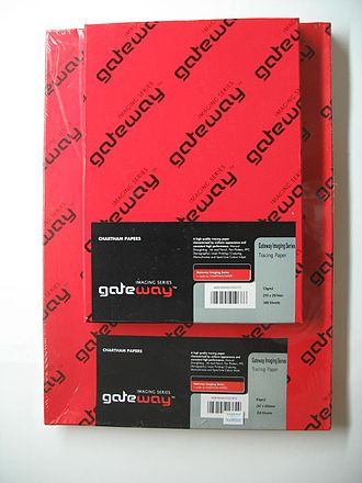 Shrink wrap - Tracing paper box wrapped by Polyolefin (POF) shrink wrap