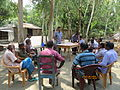 Gathering in a meeting of villagers in an Bangladeshi village 2015 06.jpg