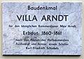 Gedenktafel Friedrich-Ebert-Str 64 (Potsdam) Max Arndt.jpg