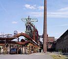 Henrichshütte museum area with blast furnace