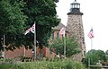 Genesee Lighthouse with Flags.jpg