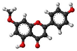 Genkwanin - Image: Genkwanin molecule ball