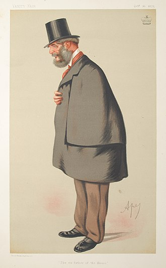 George Weld-Forester, 3rd Baron Forester - Caricature of Lord Forester by Ape published in Vanity Fair in 1875.