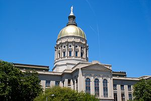 English: Close-up of the Georgia State Capitol.