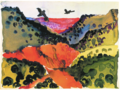 Georgia O'Keeffe, Canyon with Crows.tif