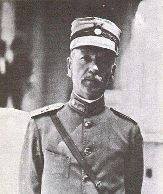 Georgios Polymenakos - Polymenakos as a major general, 1921