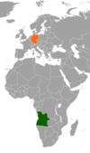 Lage von Deutschland und Angola