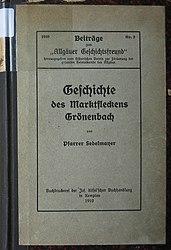 Geschichte des Marktfleckens Grönenbach