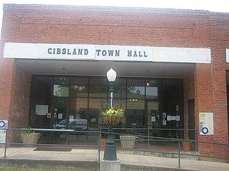 Gibsland, Louisiana - Image: Gibsland, LA, Town Hall IMG 0756