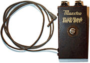 A 1965 Gibson Maestro Fuzz-Tone FZ-1A, one of the first commercially available fuzzboxes.