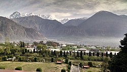 Gilgit is located in a broad valley