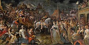 Gillis van Valckenborch - The Return of Jephthah
