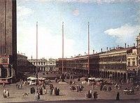 Giovanni Antonio Canal, il Canaletto - Piazza San Marco, Looking toward San Geminiano - WGA03909.jpg