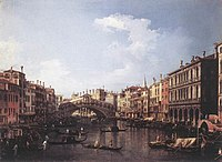 Giovanni Antonio Canal, il Canaletto - The Rialto Bridge from the South - WGA03910.jpg