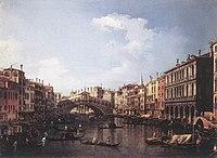 Giovanni Antonio Canal, il Canaletto - The Rialto Bridge from the South - WGA03910.jpg