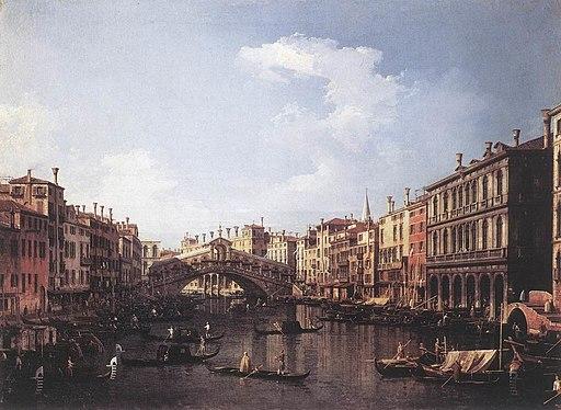 Giovanni Antonio Canal, il Canaletto - The Rialto Bridge from the South - WGA03910