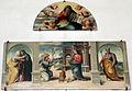 Giovanni larciani, visitazione, annunciazione s. giuseppe con eterno nella lunetta, 1526, 01.JPG