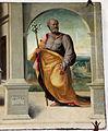 Giovanni larciani, visitazione, annunciazione s. giuseppe con eterno nella lunetta, 1526, 05.JPG