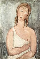 Girl in the shirt (Red-haired girl) by Amedeo Modigliani.jpg