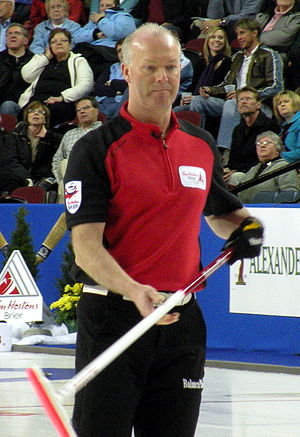 Ontario skip Glenn Howard during the Tim Horto...