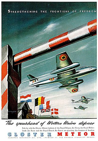 Western Union (alliance) - Image: Gloster Meteor poster June 1950