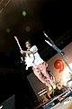Goa -- Pop star Remo Fernandes jumps high while performing at Arpora.jpg