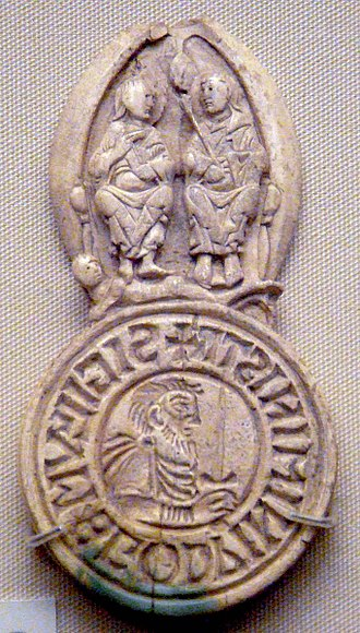 Thegn - Seal of Godwin the thegn (minister), first half of 11th century. British Museum.