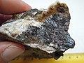 Goethite α-Fe3+O(OH), calcite CaCO3 (20066029980).jpg