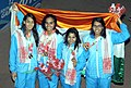 Gold medal winners of India in Women's, 4x100m Medley Swimming, at the 12th South Asian Games-2016, in Guwahati on February 10, 2016.jpg