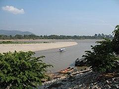 แผนที่แสดงเขตระบบแม่น้ำของแม่น้ำโขง