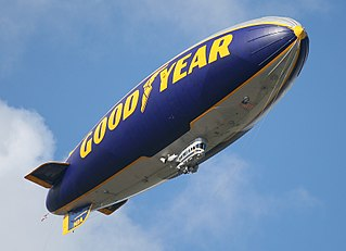 Goodyear Blimp blimp used by Goodyear for promotional purposes