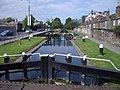 Grand Canal, the lock at Leeson Street Bridge - geograph.org.uk - 862763.jpg