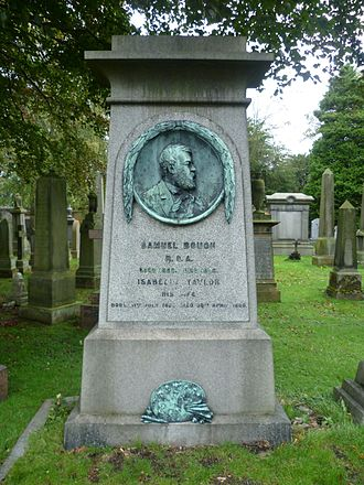 Sam Bough - Bough's grave in Edinburgh's Dean Cemetery