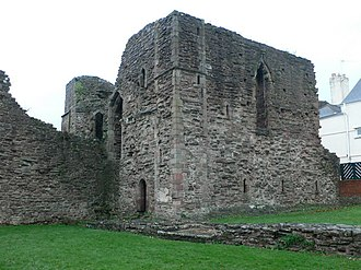 Battle of Monmouth (1233) - The ruined Great Tower of Monmouth Castle