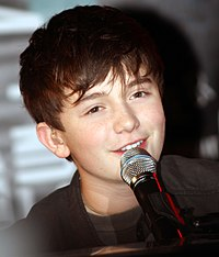 Greyson Chance während einer Performance im Hard Rock Café in Boston am 20. September 2011