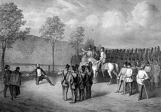 Lajos Batthyány - Batthyány's execution