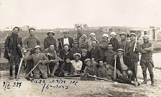 Ramat Gan - Jewish road construction crew, 1927
