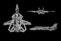 Az F–14 Tomcat háromnézeti rajza