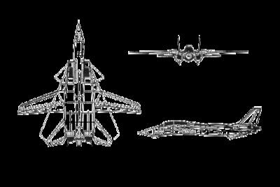 دیاگرام نمایش داده شده از گرومن اف-۱۴ تامکت